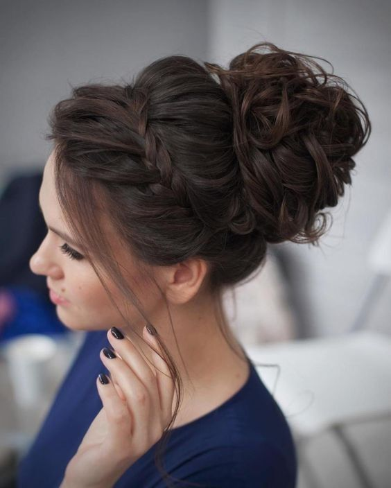 2019 Bun Updo Hairstyle Designs for Women