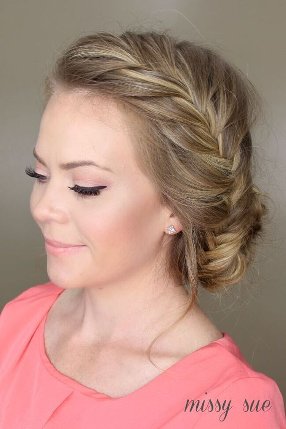 All-New French Braid Updo Hairstyles