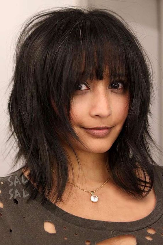 Biggest inspiration for medium hairstyles with bangs