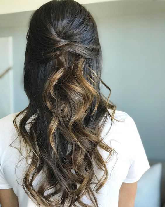 Braids,half up half down hairstyle