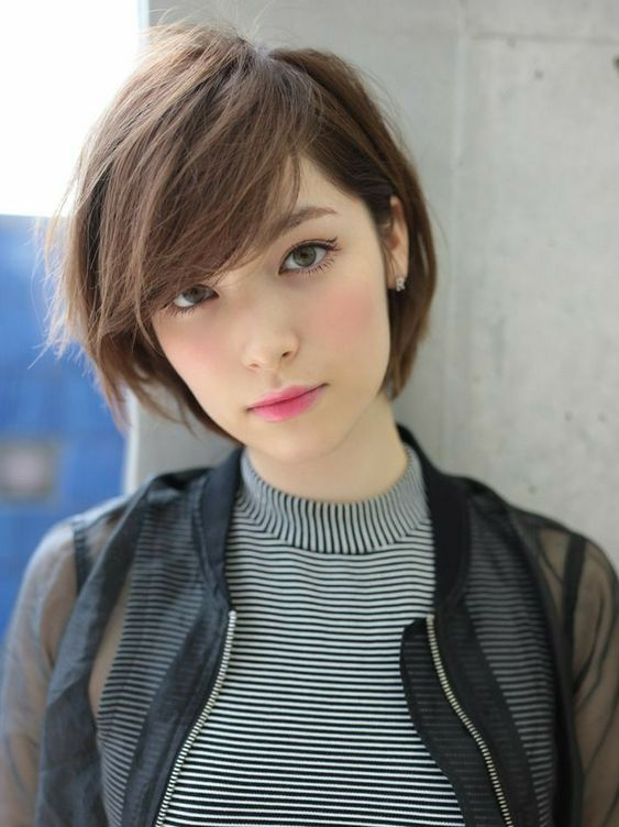 Cute Asian Short Hairstyle