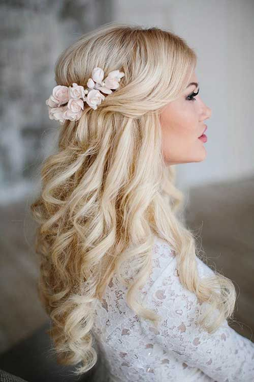 Elegant Half Updo Wedding Hairstyles