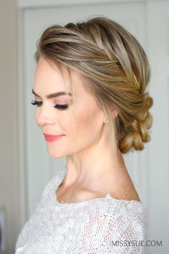 French Fishtail Braid Updo