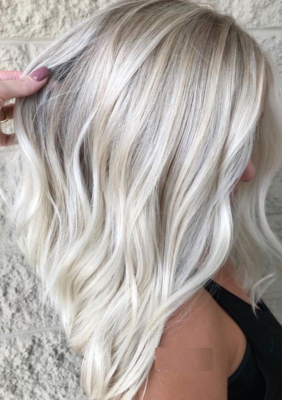 Gorgeous Ice Blonde Hair Color Trends for 2019