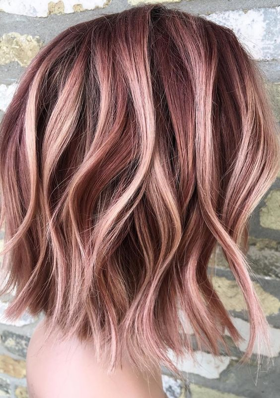 Gorgeous Rose Gold Hair Color Ideas for 2019