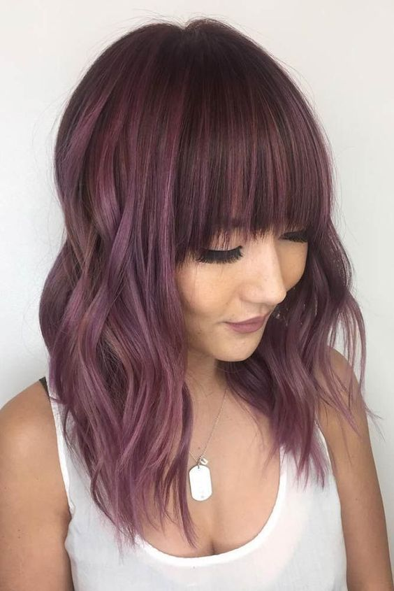 Hair Color 2019 Chocolate lilac hair