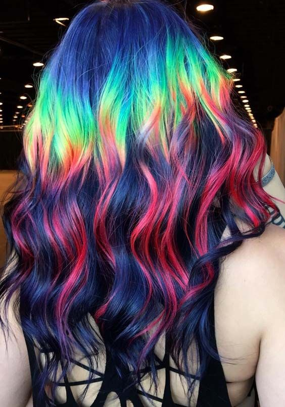 Incredible Rainbow Hair Color Ideas for 2019