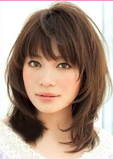 Medium Hairstyles with Bangs for Fine Hair