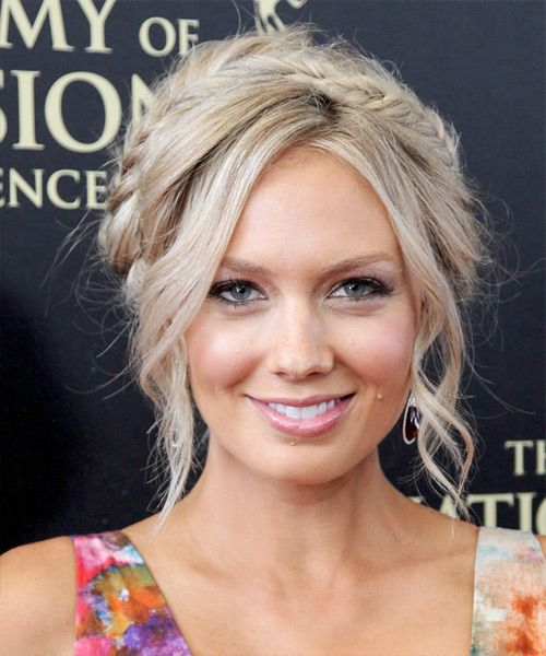 Melissa Ordway Casual Curly Updo Braided Hairstyle