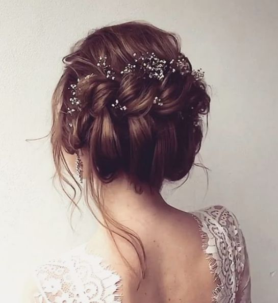 Messy Double Twisted Updo Wedding Hairstyle