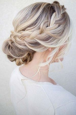 Most Romantic Bridal Updos Wedding Hairstyles 2019