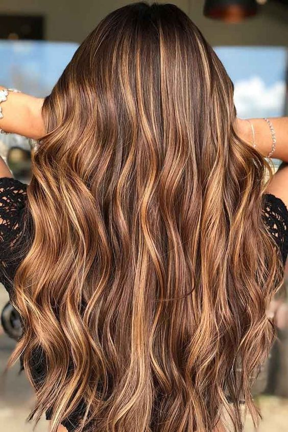 Perfect Fall Color Style for Long Hair
