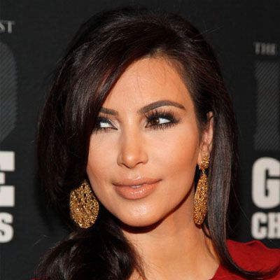 Slimming Celebrity Hairstyles Kim Kardashian