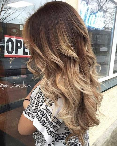 Stylish Blonde Balayage Color
