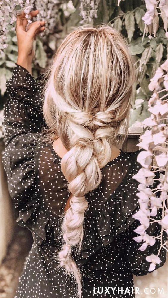 Summer Boho Braid with flowers