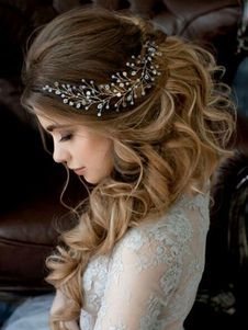 Wedding Gold Headband Crystal Headpieces