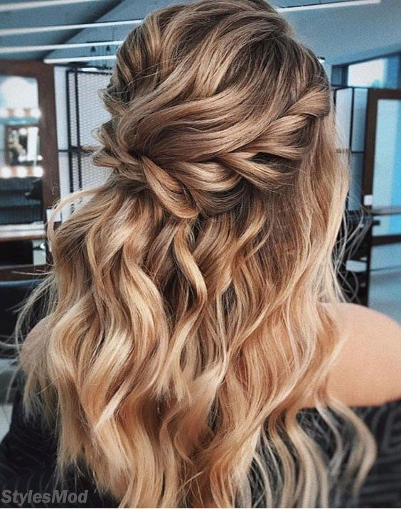 2018 Half up Bridal Hairstyle Ideas