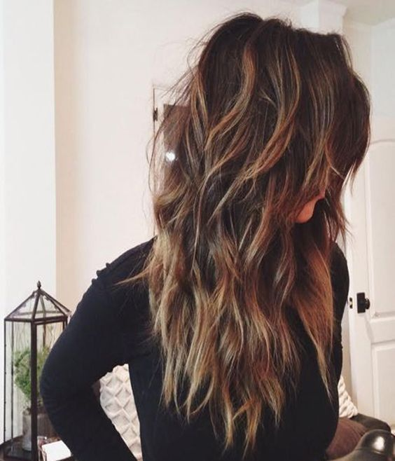 Balayage Long Hairstyles for Thick Hair