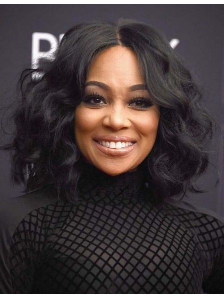 Black body wavy hair lace front wigs for women