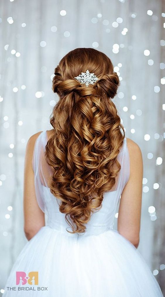 Bridal Wedding Hairstyles for Long Hair 2018