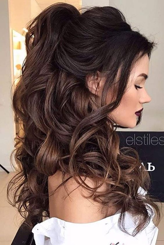 Chic Half Up Half Down Bridesmaid Hairstyles 2019