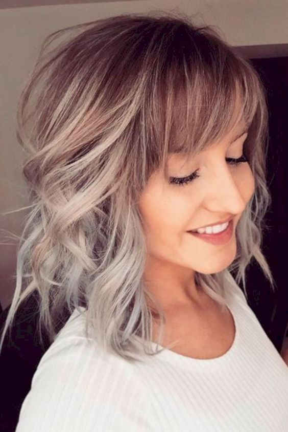 Cute Medium Hairstyle To Get A Perfect Look in School