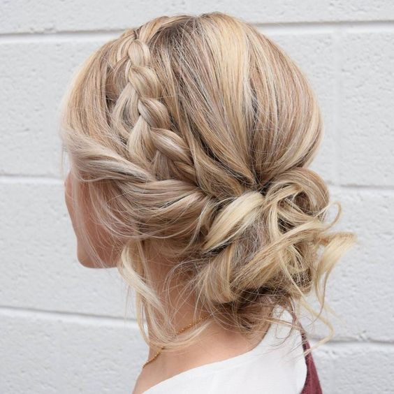 Gorgeous Updo Braided Hairstyles for Any Occasion 2018