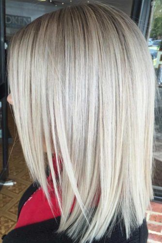 Hairstyle Layered Front, Shoulder-Length Lob