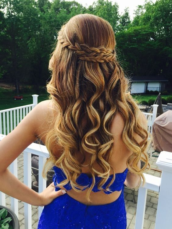 Half Up, Half Down Prom Hairstyles for Girl