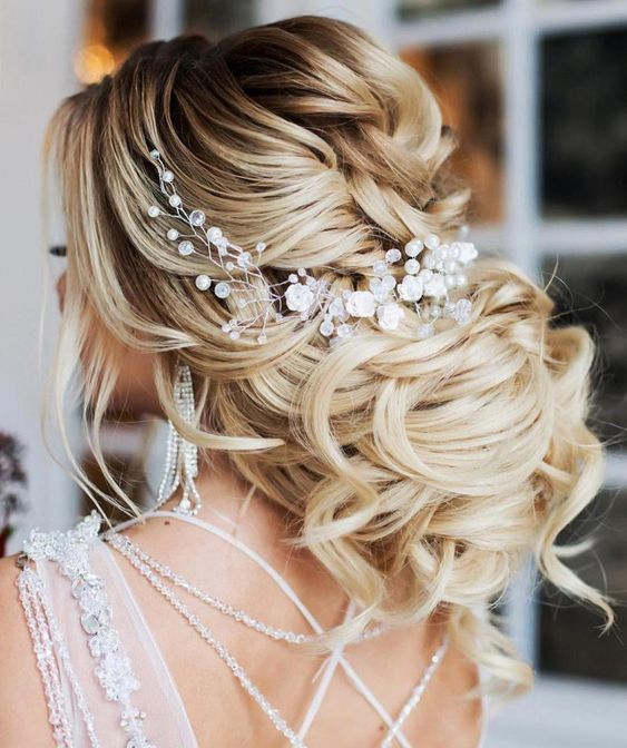 Loose Wedding Updos for Brides with Long Hair