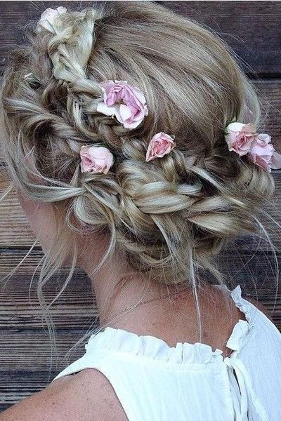 Boho Braided Crown Updo