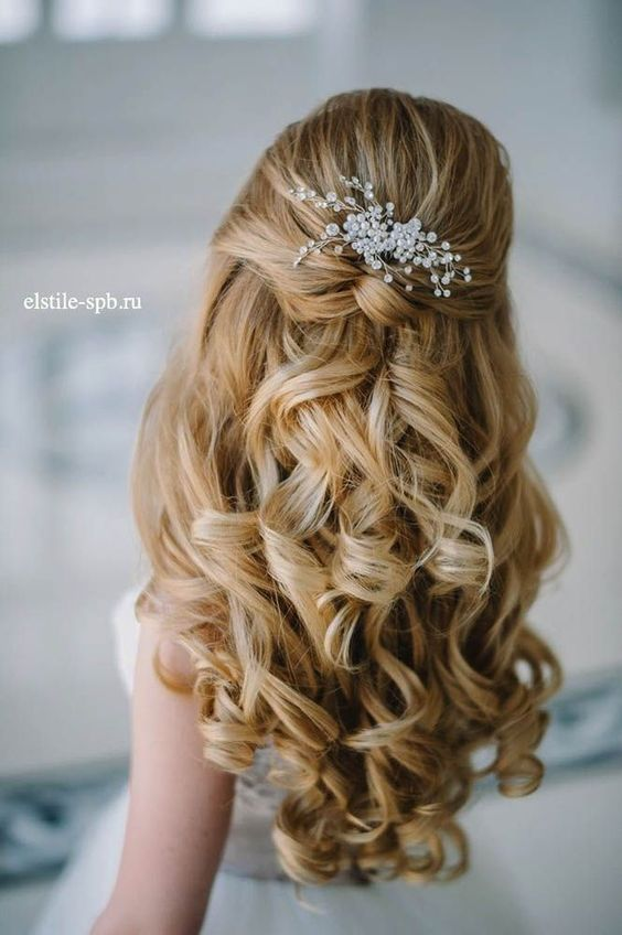 Awesome Half Up Half Down Wedding Hairstyle Ideas