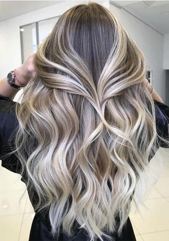 Best Toasted Coconut Hair Colors for Long Hair Looks in 2019