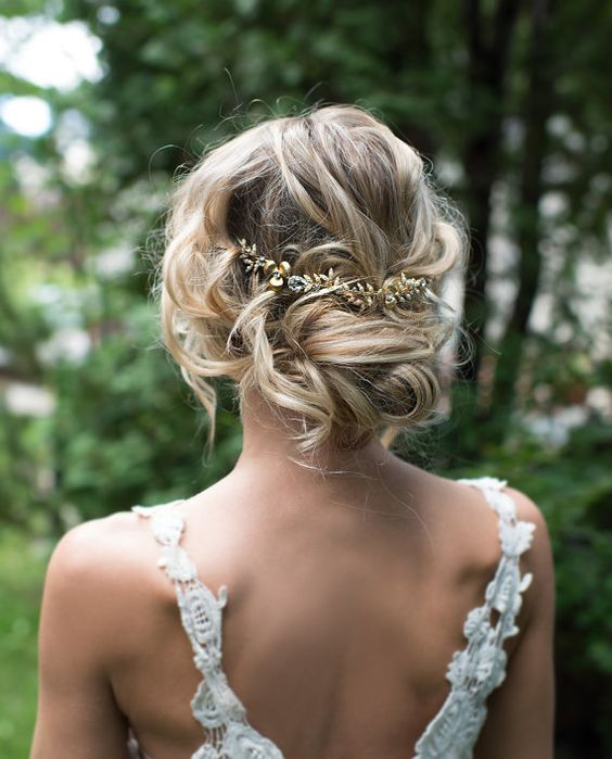 Boho Gold Hair Halo Hair