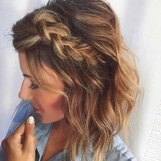 Chic Braided Hairstyles for Medium Length Hair