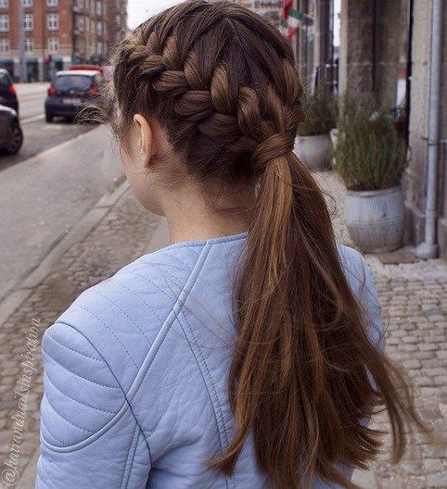 Adorable French Braid Ponytails For Long Hair