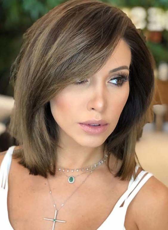 26 Perfect Medium Length Hairstyles for Thin Hair in 2019 - Page 6 ...