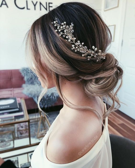Wedding Hair Updo Messy Medium Lengths For Women 2019 Hairstyle Zone X