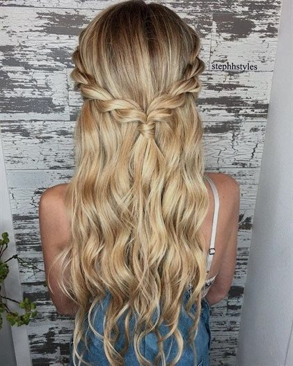 Braid half up half down hairstyle ideas,prom hairstyles