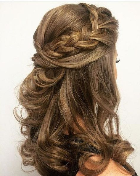 Creative Half Up Half Down Wedding Hairstyles