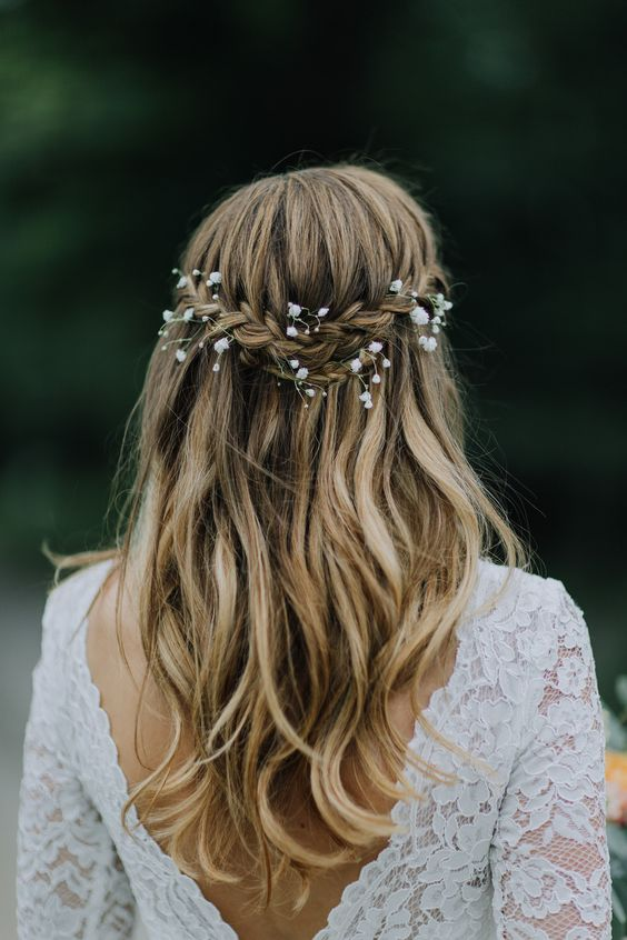 Gorgeous Half Up Half Down Wedding Hairstyles