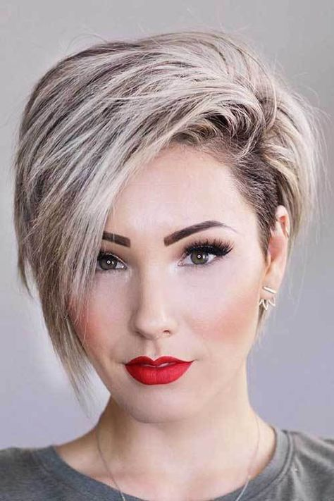 More Fresh Layered Short Hairstyles for Round Faces