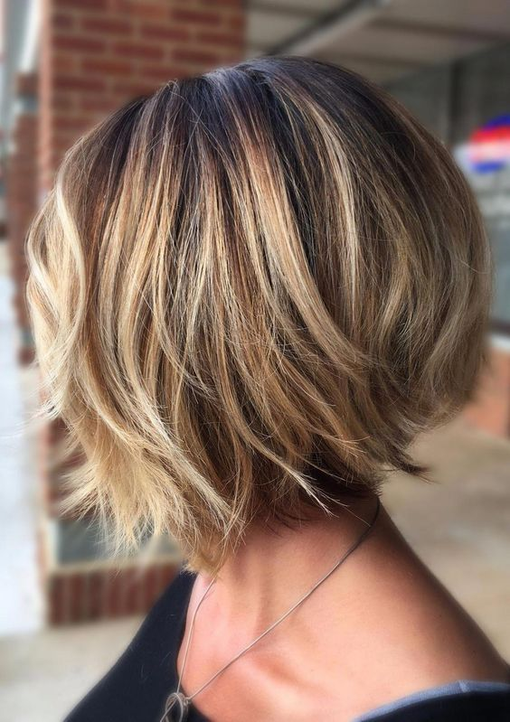 Trending Stacked Short Bob Haircuts