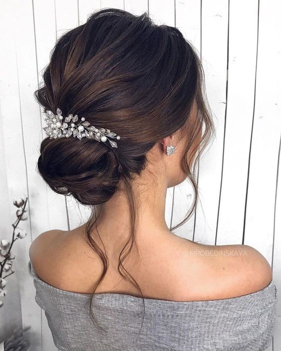 Wedding Hair Updo Messy Medium Lengths For Women 2019 Page