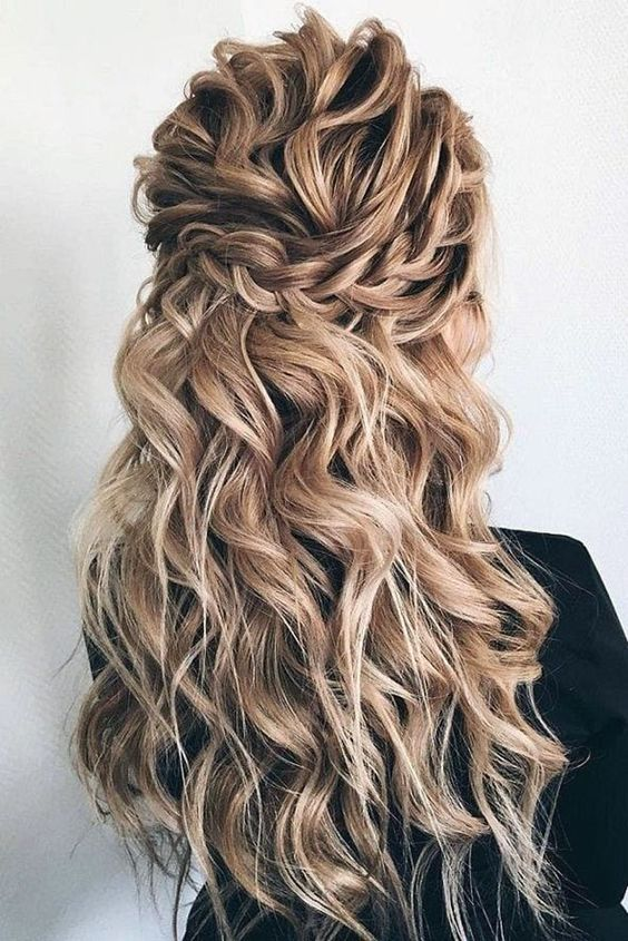 Wedding Hairstyles Half Up Half Down With Curls And Braid