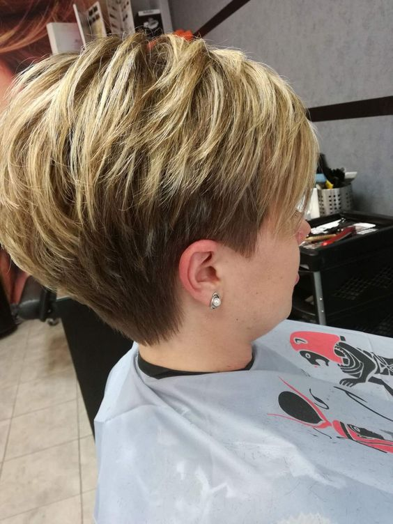 Cute pixie with short nape