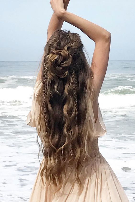 Boho Inspired Unique And Creative Wedding Hairstyle