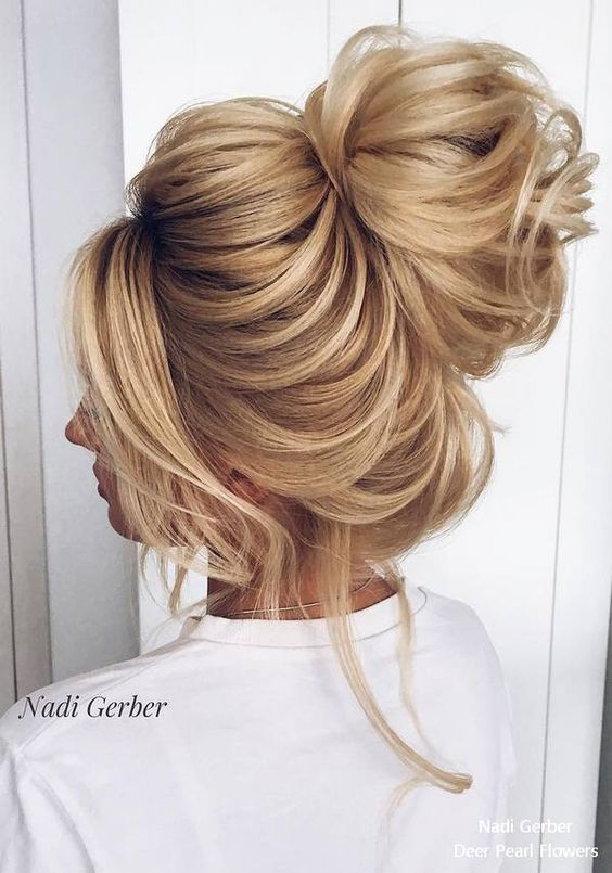 High Bun Wedding Updo Hairstyles