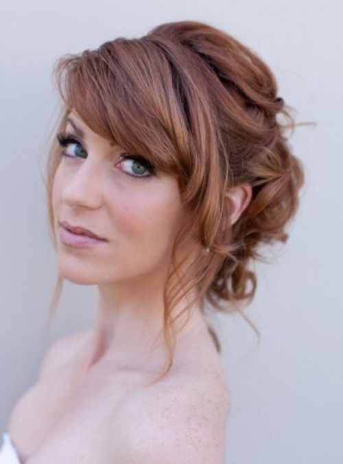 Pretty Wedding Hairstyles With Bangs 2019