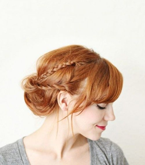 Pretty Wedding Hairstyles With Bangs